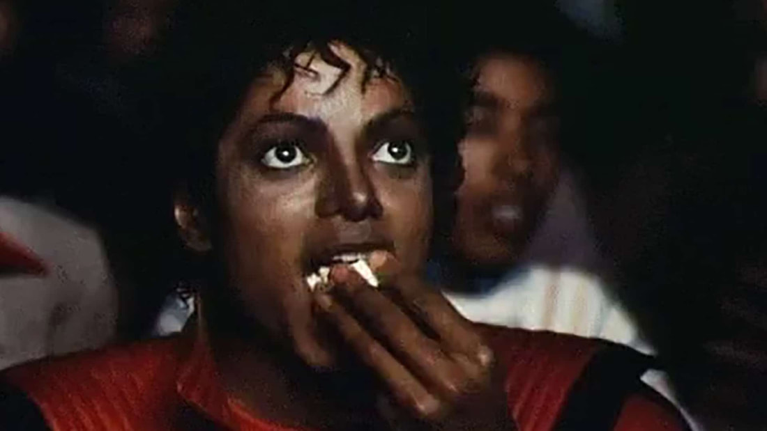 Michael Jackson eating popcorn meme